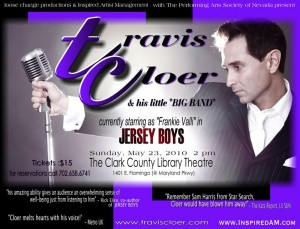 Travis Cloer & His Little Big Band will be performing this Sunday at The Clark County Library Theatre
