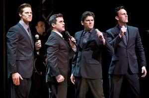 Stephen Mahy (left), Bobby Fox, Scott Johnson and Glaston Toft in Jersey Boys