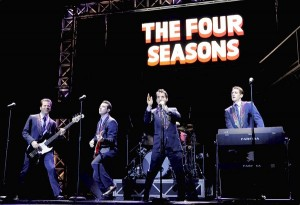 Steve Gouveia, Matt Bailey, Joseph Leo Bwarie and Ryan Jesse star as The Four Seasons in 'Jersey Boys,' a musical about the 1960s hitmakers now at the Forrest Theatre in Philadelphia