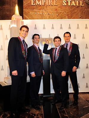 Jersey Boys Stars - Matt Bogart, Ryan Jesse, Dominic Nolfi and Jarrod Spector
