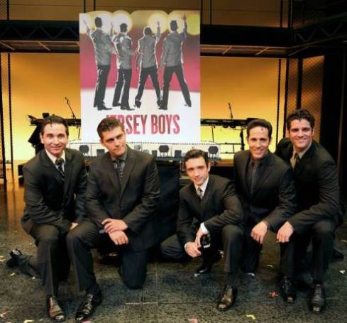 Jersey Boys stars Travis Cloer, Deven May, Rick Faugno, Jeff Leibow and Peter Saide