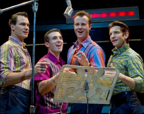 Matt Bogart, Jarrod Spector, Quinn VanAntwerp and Andy Karl
