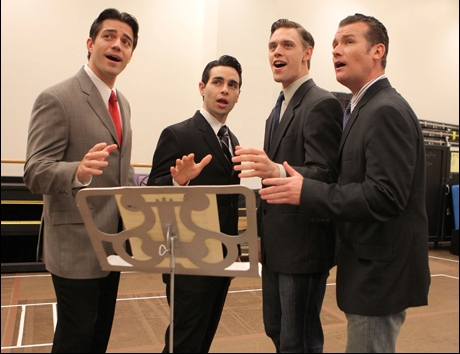 Jersey Boys Second National Tour Cast - Brandon Andrus, Brad Weinstock, Jason Kappus and Colby Foytik