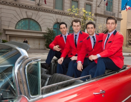 Jersey Boys from left - Jeff Leibow, Rob Marnell, Graham Fenton and Deven May