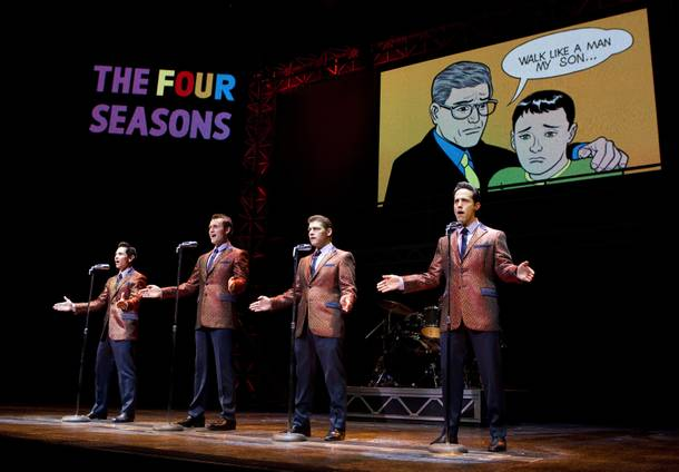 "Jersey Boys Las Vegas singing ""Walk Like A Man"" on stage"